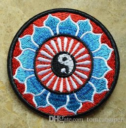 HOT SALL! ~ Yin Yang tao hippie hippie retro boho ying Iron On Patches, sew on patch,Appliques, Made of Cloth,100% Quality