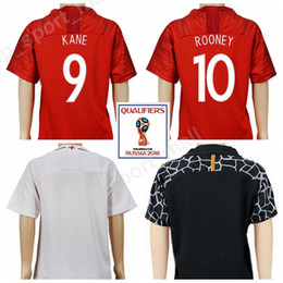 England Youth Harry Kane Jersey 2018 World Cup Soccer Child 10 Wayne Rooney 8 Frank Lampard Football Shirt Kits Kids 19 Raheem Sterling Red