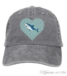 pzx@ Baseball Cap for Men Women, I Love Sharks Womens Cotton Adjustable Jeans Cap Hat Multi-color optional