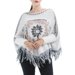 women's loose tassel cloak 2018 autumn and winter new European and American sweater coat sweater long-sleeved shirt