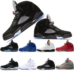 V OG Black Metallic Gold Olympic 5s zapatillas de baloncesto para hombre SNEAKERS Camo Gray Fire red Metallic Silver Space jam Blanco Grapes trainers