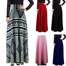 Maxi Long Elegant Skirt for Women Spring High Waist Casual Wine Red Black Solid Color Skirts Women Faldas Saia 5XL Plus Size Ladies Jupe