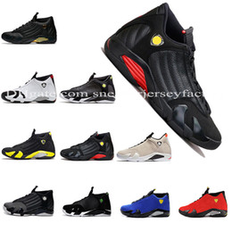 2019 Mens Designer 14 14s The Last Shot basketball shoes Desert Sand DMP Black Toe Red Thunder Mens Sports Trainers designer sneakers 41-47
