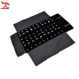 Fashion Big Sales Black Gray Jewelry Display Accessiores Travel Ring Storage Case Large Jewelry Roll Bag Organizer