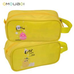 OMOUBOI Unisex impermeable al aire libre cremallera de protección con cremallera amarillo poliéster ligero kits de maquillaje cosméticos totalizador organizado lleve el bolso