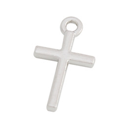 Wholesale Rhodium Plating Cross Charms For Expandable Bangles 50pcs AAC064