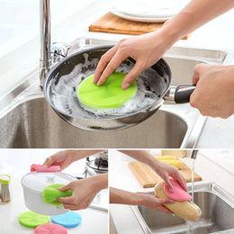 Silicone dish brush magic cleaning brush multifunciton kitchen cleaning sponge bowl pan wash brushes cleaning tools kitchen