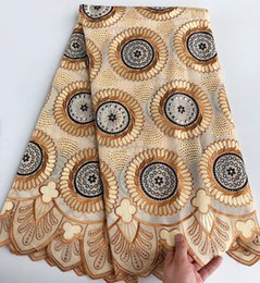 5 yards African Lace Fabric Swiss voile lace with stones high quality soft high quality