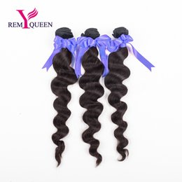 Remy Queen Indian Hair Loose wave 3pcs lot Bundles Natural Color 100g pc 100% human virgin Remy hair Top quality factory outlet price