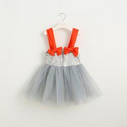 Vieeolove Girls Dress Kids Clothing 2018 Christmas Bling Shiny Dress Fashion Bow Sequins Vest Princess Dress MK-762