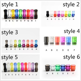 Colorful Plastic Drip Tip 510 810 Drip Tip Flat Mouth Mouthpiece Transparent Colorfur clear For Ego Atomizer Ego Battery
