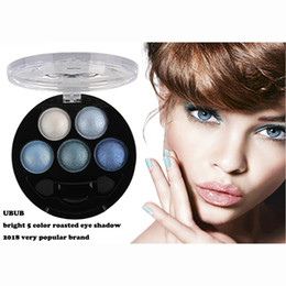 UBUB Eyeshadow 5 Colors Natural Glitter Shimmer Eyeshadow Palette Metallic Charming Eye Shadow Beauty Makeup Palette with Brush