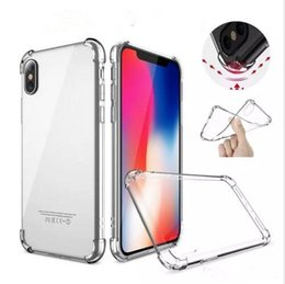 Air Cushion Anti-knock Soft TPU Case Transparent Full Protective Shockproof Cover For iPhone X XS MAX XR 8 7 6 plus samsung S9 note 9 DHL