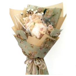 Vintage Flower Print Korean Wrapping Paper Floral Bouquet Gift Package Supplies 10pcs