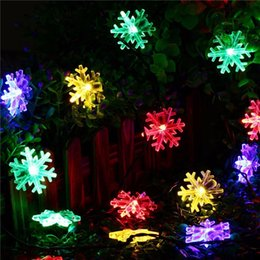 Solar courtyard decoration garden lights snowflake string 30LED holiday wedding energy-saving outdoor lantern