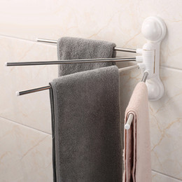 Towel holder hanger wall mounted towel rails bar hanger bath towel rack 4 tower bars set rack rotate 180 degree