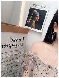 Korean temperament wild long irregular square tassel pendant crystal super fairy ins earrings female earrings earrings