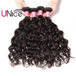 UNice Hair Unprocessed 5 Bundles Indian Natural Wave Wholesale 8A Virgin Nice Curl Hair Weave Bundles Cheap 100% Human Hair Extensions