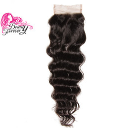 Beauty Forever Brazilian Hair Natural Wave Lace Closure Free Part 10-20inch 100% Human Hair 4x4 Closure 1 Piece Virgin Hair Swiss Lace