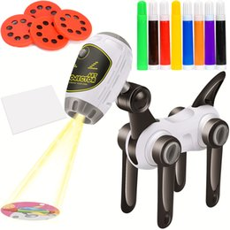 Improve the intelligence Projector for Kid High Tech Learning painting with Water Pens Colorful Markers Draw Projector