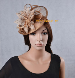 Wholesale Attractive multiple color sinamay fascinator feather fascinator for kentucky derby.