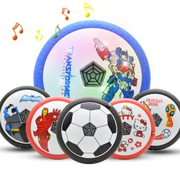 Light music air cushion suspended air ball. Football indoor electric children's sports children's toy European championship.