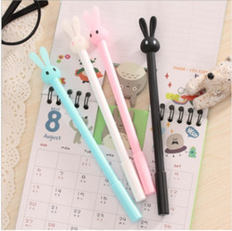 0.5mm Cute Kawaii Plastic Gel Pens Lovely Cartoon Rabbit Pen For Kids Gift Korean Style Cartoon Stationery Student Writing Office Supplies