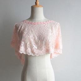 Lace Bolero Wraps Women Bridal Cape Lace Female Shawl Evening Capes Short Bridal Wrap Vintage Wedding Accessories CPA1279