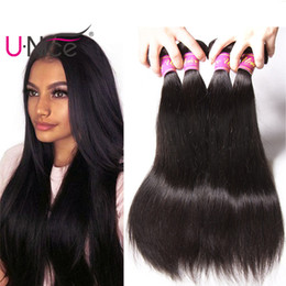 UNice Hair Raw Indian Straight Hair 3 Bundles 8-30inch 100% Human Weave Bundles Virgin Human Hair Extensions Wholesale Weaves Cheap Bulk