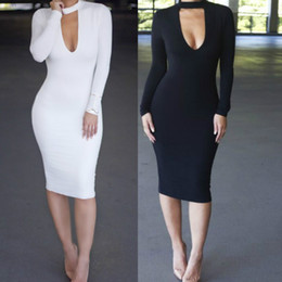 New Spring Fashion Turtleneck long sleeve Casual Elegant Pencil Dress Women Sexy Club Cocktail Party Bodycon Bandage Dress Cleavage Dresses