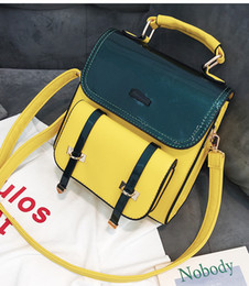 Female tide bag 2018 spring new school hit color shoulder bag big bag fashion Korean version of the girls high-capacity backpack