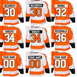 Wholesale Mens Womens Kids Philadelphia Flyers 30 Michal Neuvirth 32 Leland Irving 34 Corban Knight 36 Colin McDonald Ice Hockey Jerseys