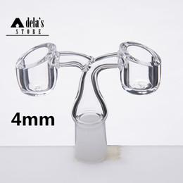 4mm Thick Double Bowl Quartz Banger Nail 100% Quartz Nails Domeless Twin 14mm 18mm 10mm Male Female Dab Rig 533