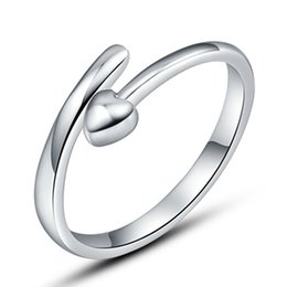 Single open silver items weeding ring vintage small love point spot infinity fashion open design new