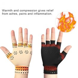 magnetic thetrapy Fingerless Gloves Arthritis Pain Relief Heal Joints Braces Supports Health Arthritis Joints Braces Gloves