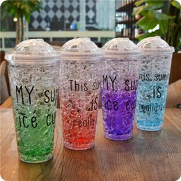 Summer Is Cool Water Bottle Creative Ice Cup New Design Today Special Plastic Water Bottles Drinkware With Lid Straws