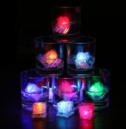 LED ice cube 7 color fast flash slow flash auto changing crystal cube for party valentine's day wedding festive party supplies