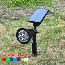 Solar lawn lamp 7LED discoloration fixed color outdoor landscape lighting garden garden lights villa street lamp