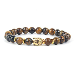 Meditation Jewelry Men Bracelets Women Bracelet Buddha Charm Mala Natural Stone Beads Tigers Eye 2018 Fashion Buddhist