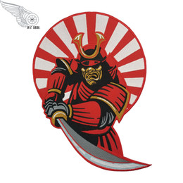"""Cool Morale SAMURAI Embroidered Biker Back Patch Iron On Jacket Vest Back Embroidered Patch Large Size Badge 10"""" Free Shipping"""