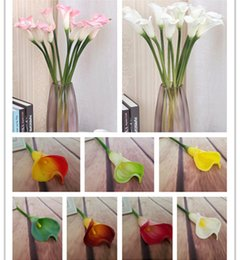 Real Touch Large Size Calla Lily Flowers Artificial Callas Flowers Simulation PU Calla Lilies 8 colors for Wedding Centerpieces Flower