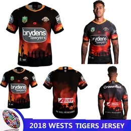 Wests Tiger 2018 New Zealand ANZAC ROUND JERSEY 2018-2019 Australia rugby NRL Wests Tiger Edition Rugby Jerseys Free shipping size S - 3XL