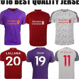 18 19 Mohamed SALAH soccer Jersey 2019 VIRGIL KEITA mane SHAQIRI M. SALAH Football Shirt away purple FIRMINO liverpooling M SALAH uniforms