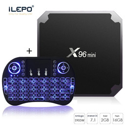 2GB 16GB X96 mini s905W tv box wireless keyboard combo sold at best price Best Android 7.1 Media Box +i8 Air mouse