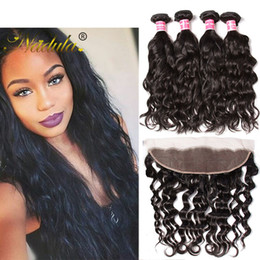 Nadula Brazilian Virgin Hair Bundles With Lace Frontal Closure Natural Wave Peruvian Hair Bundle With Frontal Raw Indian Lace Frontal Bundle