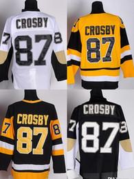 2016 New, New #87 Sidney Crosby White black blue Ice Hockey Jersey Cheap Hockey jersey Mixed order