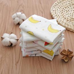 Baby salira towel 4 layer Gauze cloth 100% cotton towel 25x25cm face towel no fading no lint carton graphics wholesale free shipping DHL
