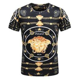2018 Men's Spring Summer Casual Business T-shirt Classic Shirt Men's Shirt Classic Men's T-Shirt Trend T-Shirt 21209