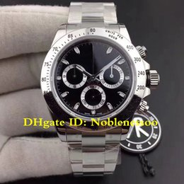 5 Style AR Factory New V2 Version Luxury Classic 116520 Black Dial 904L Steel Swiss CAL.4130 Movement Automatic Chronograph Watch Watches
