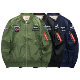MA1 BOMBER Jackets KANYE WEST Men Autumn Spring Winter Motorcycle Pilot Coat Couple Jacket hip hop Mens outwears Jacket M-6XL